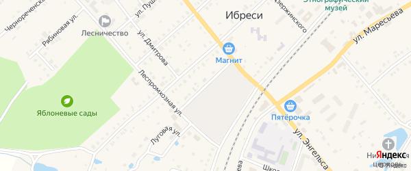 Переулок Лесосклада на карте поселка Ибреси с номерами домов