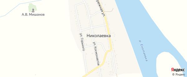 Улица Космонавтов на карте села Ивановки с номерами домов