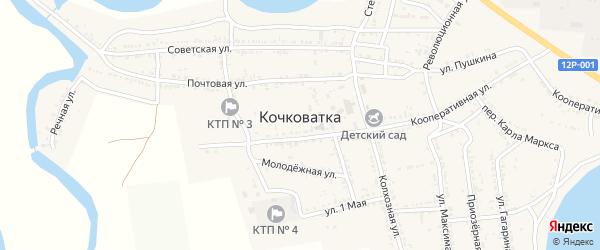 Улица Гагарина на карте села Кочковатки с номерами домов