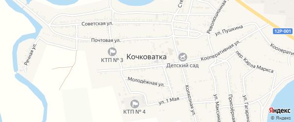 Школьный переулок на карте села Кочковатки с номерами домов