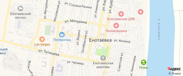 Улица Коминтерна на карте села Енотаевки с номерами домов