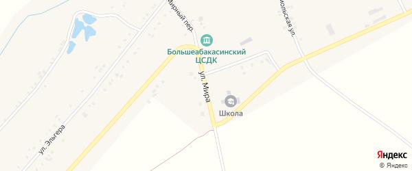 Улица Мира на карте деревни Большие Абакасы с номерами домов