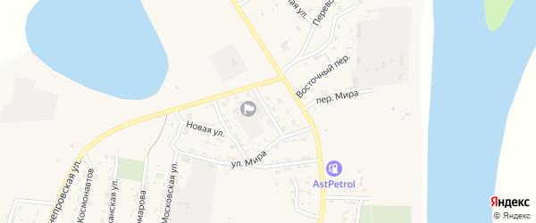Волгоградский переулок на карте села Енотаевки с номерами домов
