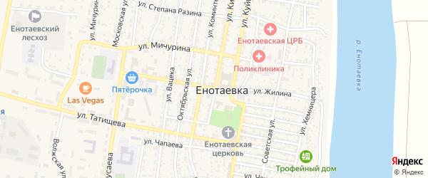 Улица Чернышевского на карте села Енотаевки с номерами домов