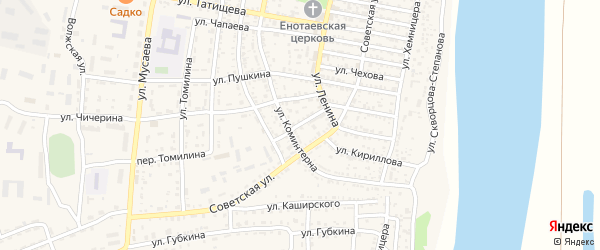 Братская улица на карте села Енотаевки с номерами домов