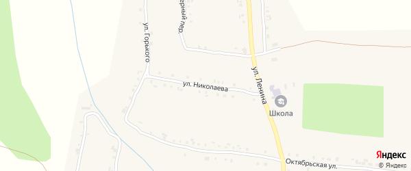 Улица Николаева на карте села Новые Айбеси с номерами домов