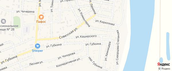 Улица Каширского на карте села Енотаевки с номерами домов