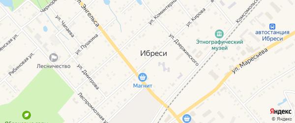 Улица Кирова на карте поселка Ибреси с номерами домов