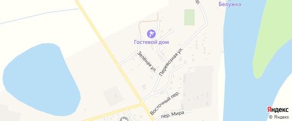 Зеленая улица на карте села Енотаевки с номерами домов