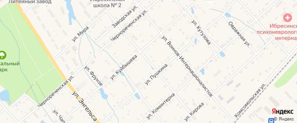Улица Чкалова на карте поселка Ибреси с номерами домов