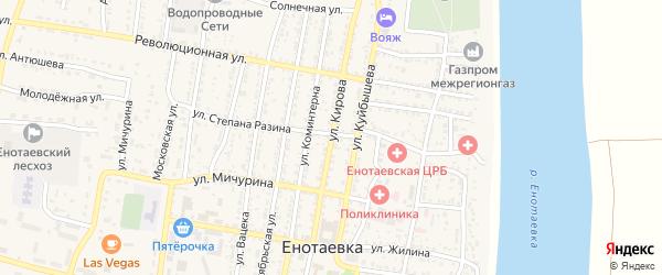 Улица Кирова на карте села Енотаевки с номерами домов