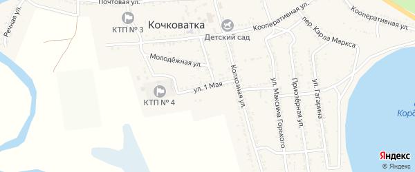 1 Мая улица на карте села Кочковатки с номерами домов