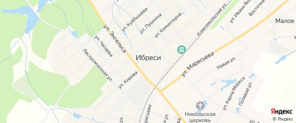 Карта поселка Ибреси в Чувашии с улицами и номерами домов