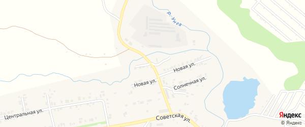 Прудная улица на карте села Ишлеи с номерами домов