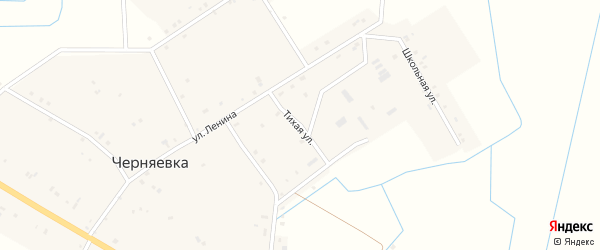Тихая улица на карте села Черняевки с номерами домов
