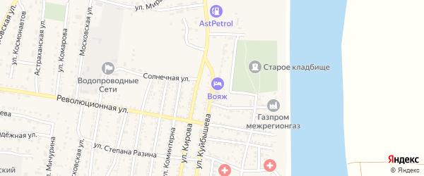 Улица Куйбышева на карте села Енотаевки с номерами домов