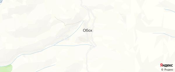 Карта села Обоха в Дагестане с улицами и номерами домов