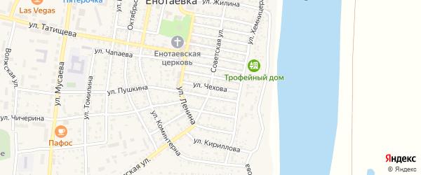 Улица Чехова на карте села Енотаевки с номерами домов