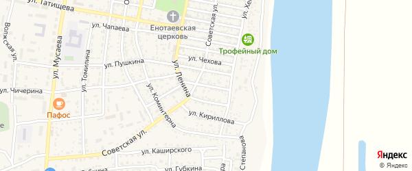 Рабочая улица на карте села Енотаевки с номерами домов