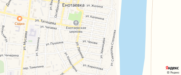 Улица Москаленко на карте села Енотаевки с номерами домов