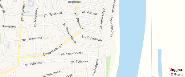 Улица Кириллова на карте села Енотаевки с номерами домов