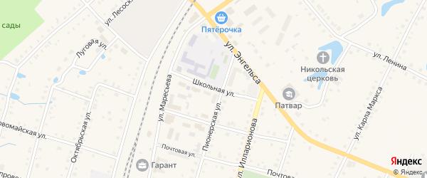 Школьная улица на карте поселка Ибреси с номерами домов