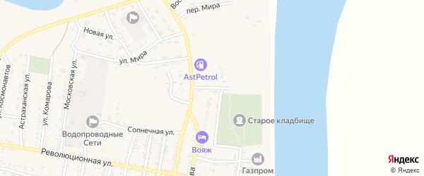 Улица Нефтяников на карте села Енотаевки с номерами домов