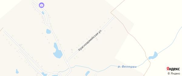Красноармейская улица на карте деревни Большие Абакасы с номерами домов
