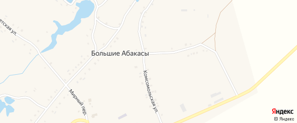 Первомайская улица на карте деревни Большие Абакасы с номерами домов