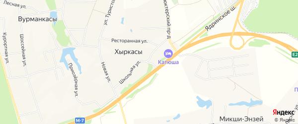 СТ Звезда на карте Вурмана-Сюктерского сельского поселения с номерами домов