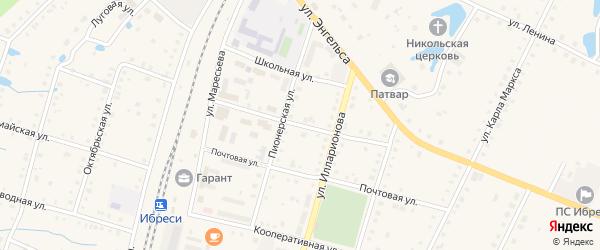 Садовая улица на карте поселка Ибреси с номерами домов