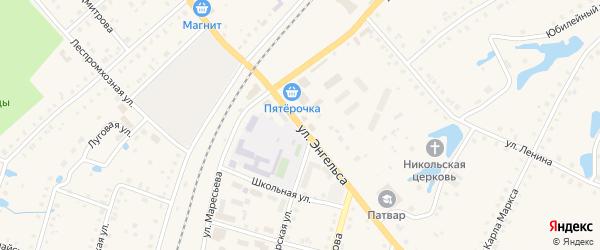 Улица Энгельса на карте поселка Ибреси с номерами домов