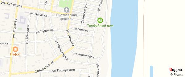 Улица Хемницера на карте села Енотаевки с номерами домов
