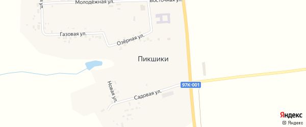 Молодежная улица на карте деревни Пикшики с номерами домов
