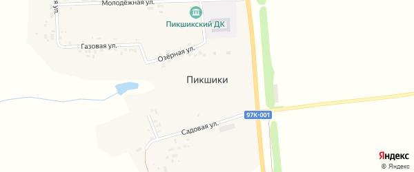 Новая улица на карте деревни Пикшики с номерами домов