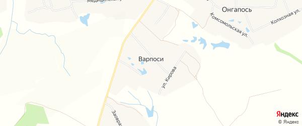 Карта деревни Варпосей в Чувашии с улицами и номерами домов