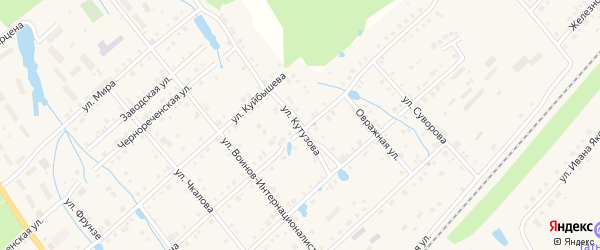 Улица Кутузова на карте поселка Ибреси с номерами домов