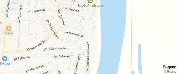 Улица Скворцова-Степанова на карте села Енотаевки с номерами домов