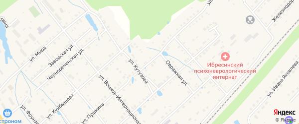 Улица Пушкина на карте поселка Ибреси с номерами домов