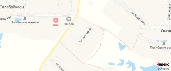 Тепличная улица на карте деревни Онгапоси с номерами домов