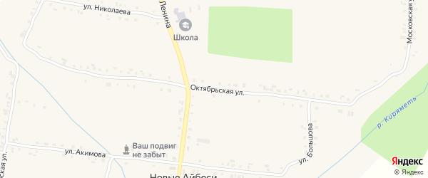 Октябрьская улица на карте села Новые Айбеси с номерами домов