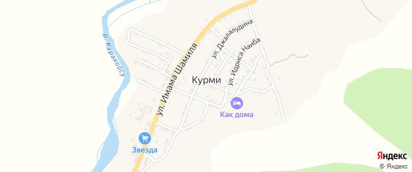 Улица Газимагомеда на карте села Курми с номерами домов