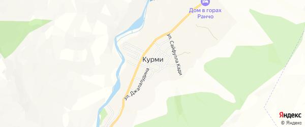 Карта села Курми в Дагестане с улицами и номерами домов