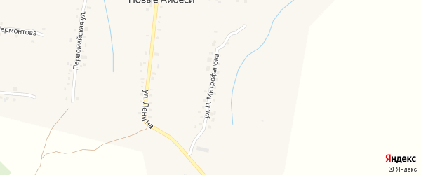 Улица Н.Митрофанова на карте села Новые Айбеси с номерами домов