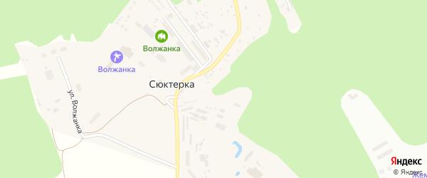 Улица Волжанка на карте поселка Сюктерки с номерами домов