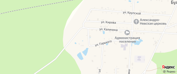 Улица Плеханова на карте поселка Буинска с номерами домов