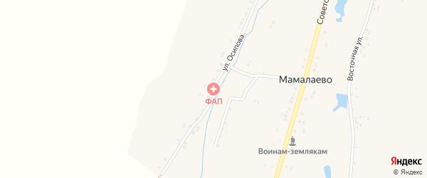 Советская улица на карте деревни Мамалаево с номерами домов