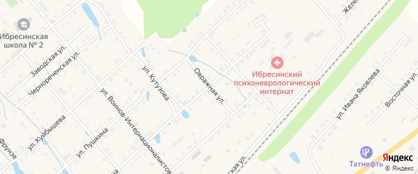 Овражная улица на карте поселка Ибреси с номерами домов