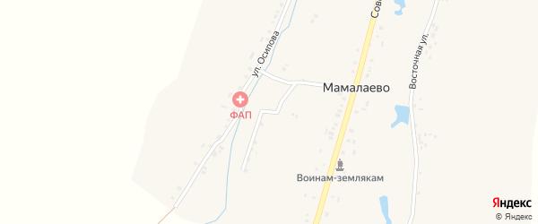 Речной переулок на карте деревни Мамалаево с номерами домов
