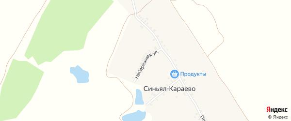 Набережная улица на карте деревни Синьял-Караево с номерами домов